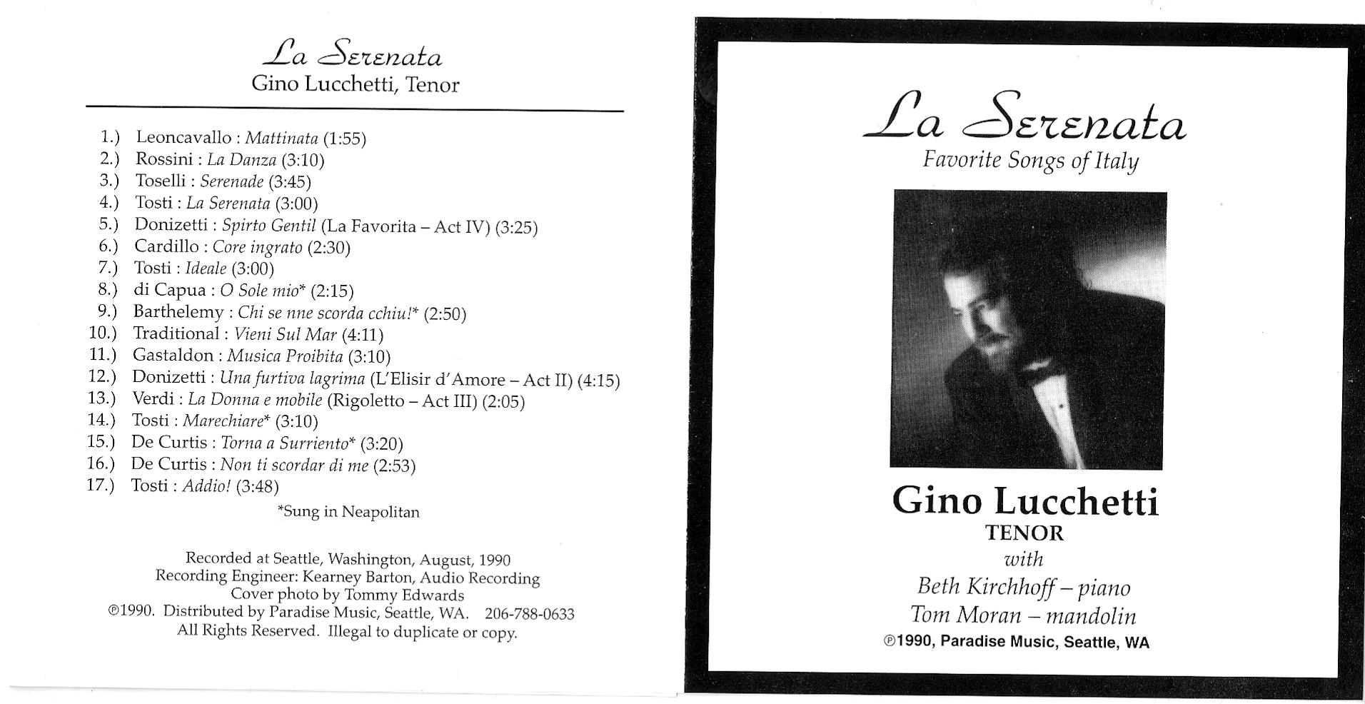 La Serenata - Gino Lucchetti - Tenor